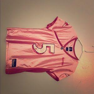 Ravens #5, pink Flacco jersey